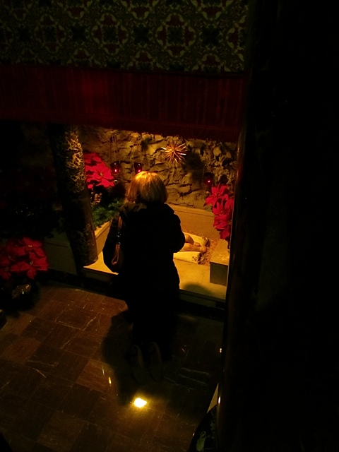 Venerating baby Jesus at the Bethlehem Shrine